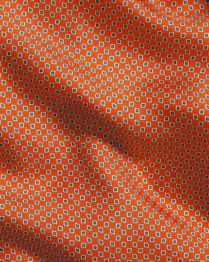 Mini Geometic Print Pocket Square - Orange