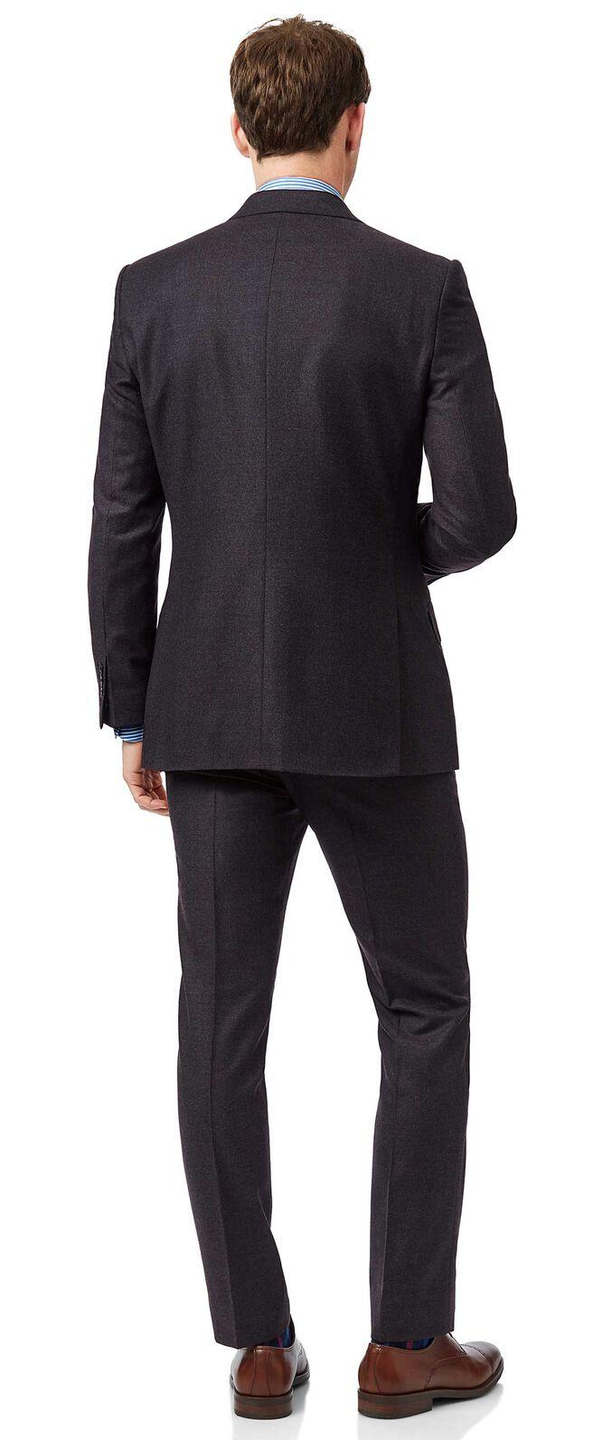 Italienischer Slim Fit Anzug in Aubergine
