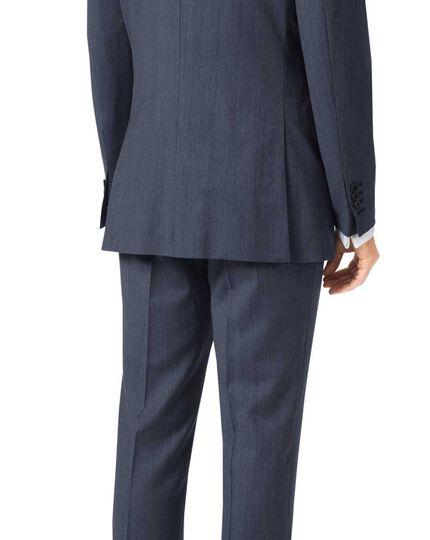 Light blue slim fit twill business suit jacket