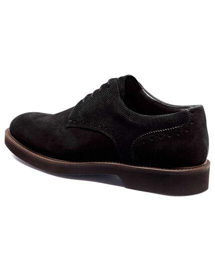 Black extra lightweight derby shoe