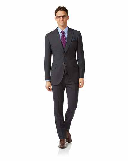 Grey check slim fit Italian suit