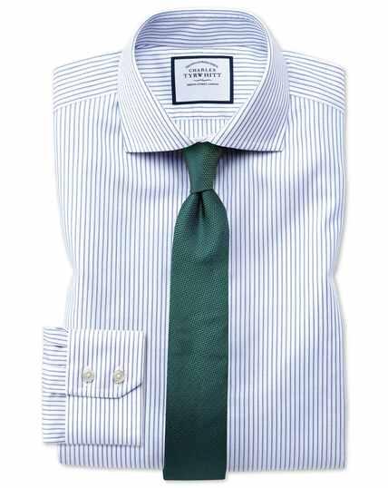 Extra slim fit non-iron blue Oxford stretch shirt