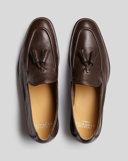 Flexible Tassel Loafer  - Chocolate