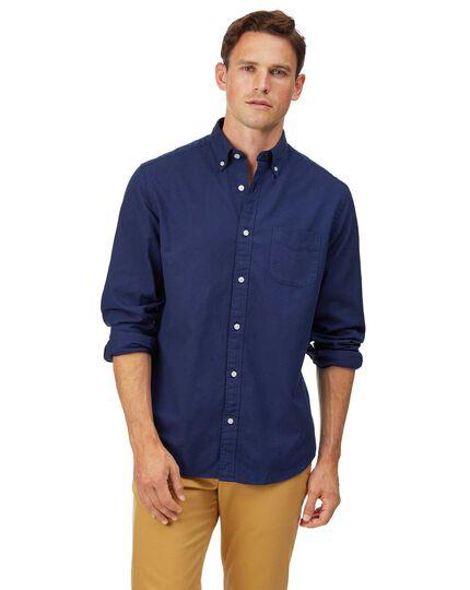Vorgewaschenes Classic Fit Oxfordhemd mit Button-down Kragen in Königsblau