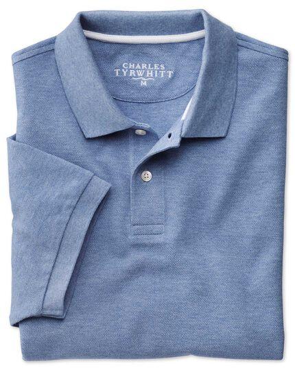 Piqué-Poloshirt in Himmelblau