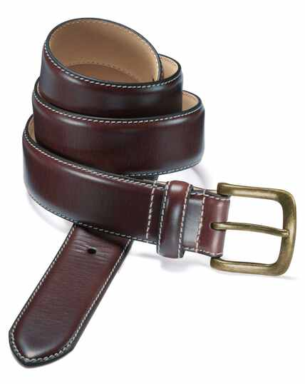 Brown chino belt