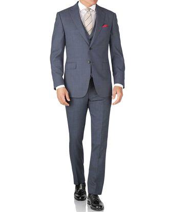 Light blue slim fit sharkskin travel suit