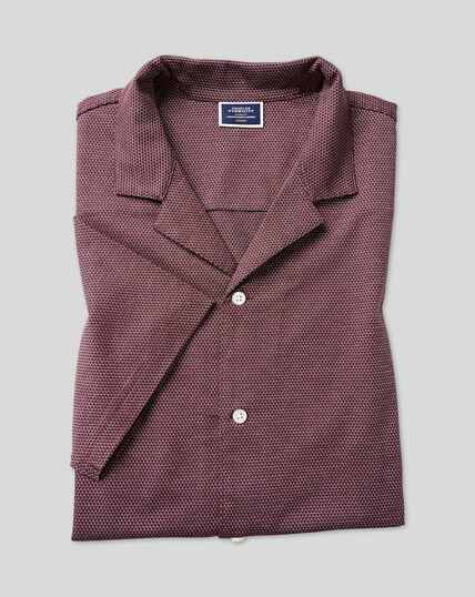 Tyrwhitt Cool Resort Collar Polo - Wine