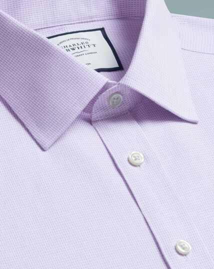 Bügelfreies Extra Slim Fit Hemd aus Dash-Gewebe in Lila