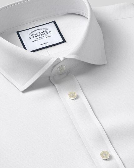 Classic fit white non-iron poplin cutaway shirt