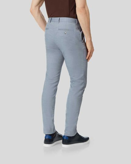 Non-Iron Twill Texture Trousers - Light Blue