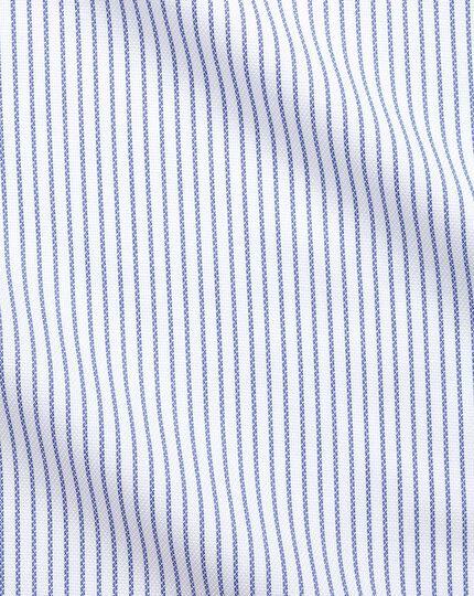 Slim fit non-iron blue Oxford stretch shirt