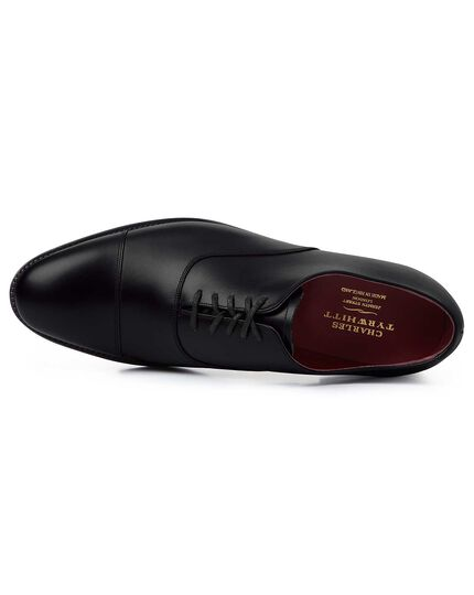 Black made in England Oxford flex sole shoe