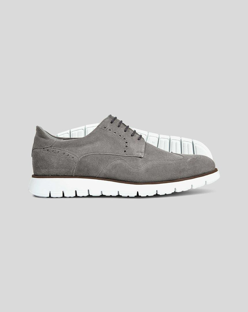 Suede Hybrid Trainer  - Grey
