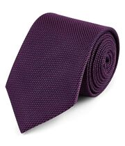 Dark purple silk plain classic tie