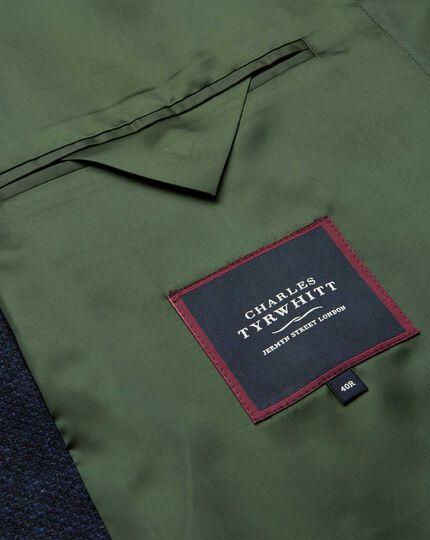 Wool Car Coat - Navy & Green