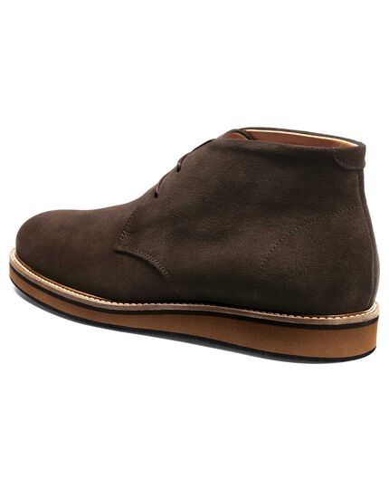 Chocolate suede lightweight chukka boot
