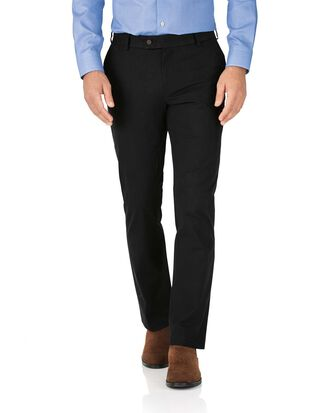 Slim Fit Stretch-Chinohose in Schwarz
