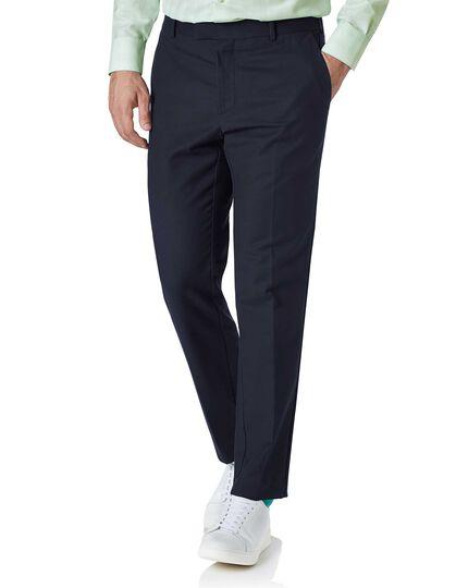 Navy slim fit natural performance pants