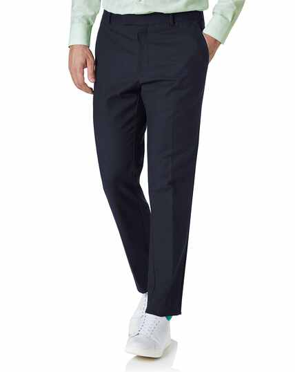 Navy slim fit natural performance trouser
