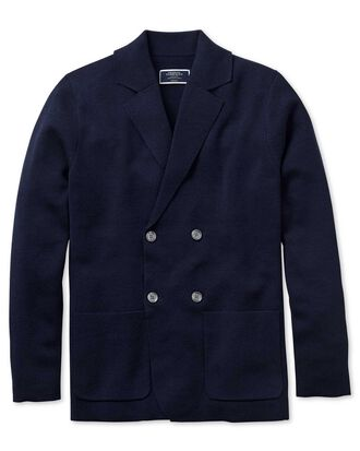 Navy merino wool waistcoat
