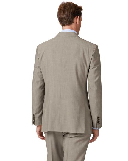 Natural Panama classic fit British suit jacket