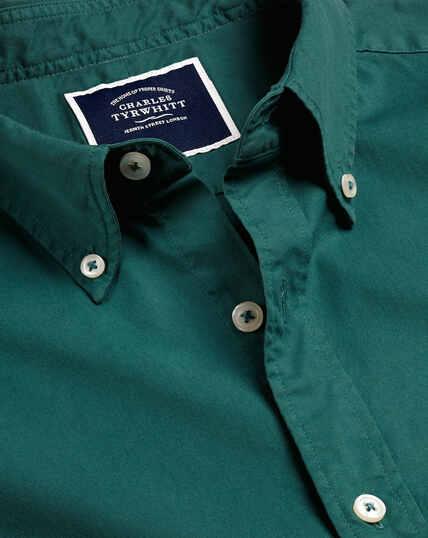 Garment Dyed Fine Twill Shirt - Teal