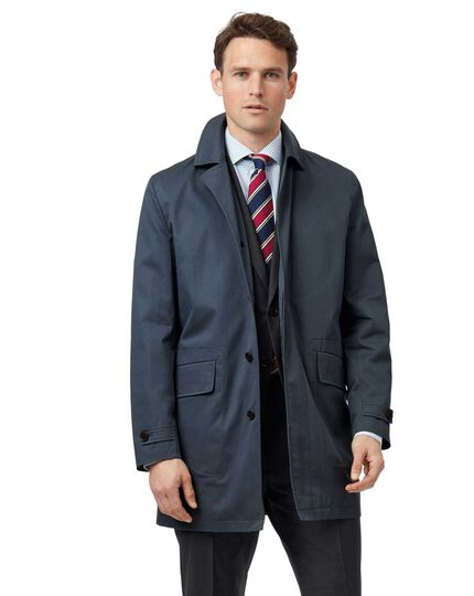 Airforce blue Italian raincoat