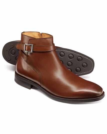 Tan jodhpur boots