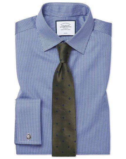 Burgundy and sky blue stain resistant Fleur-de-Lys classic tie