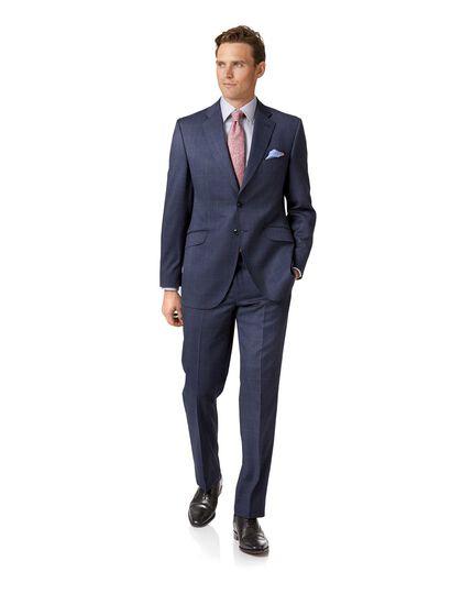 Costume bleu acier en tissu italien coupe droite