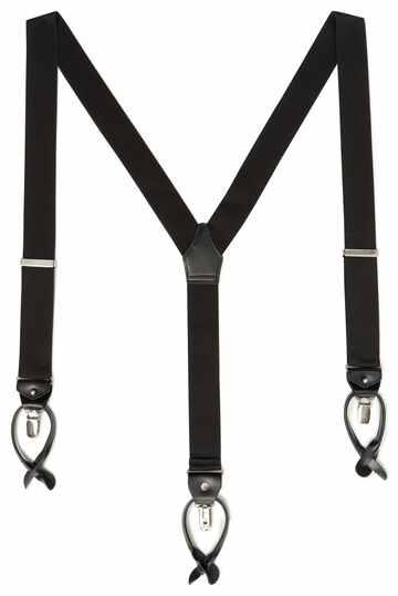 Black combination suspenders