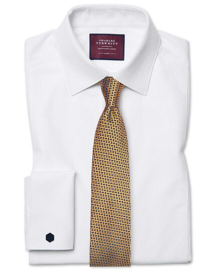 Classic fit luxury Marcella bib front white tuxedo shirt