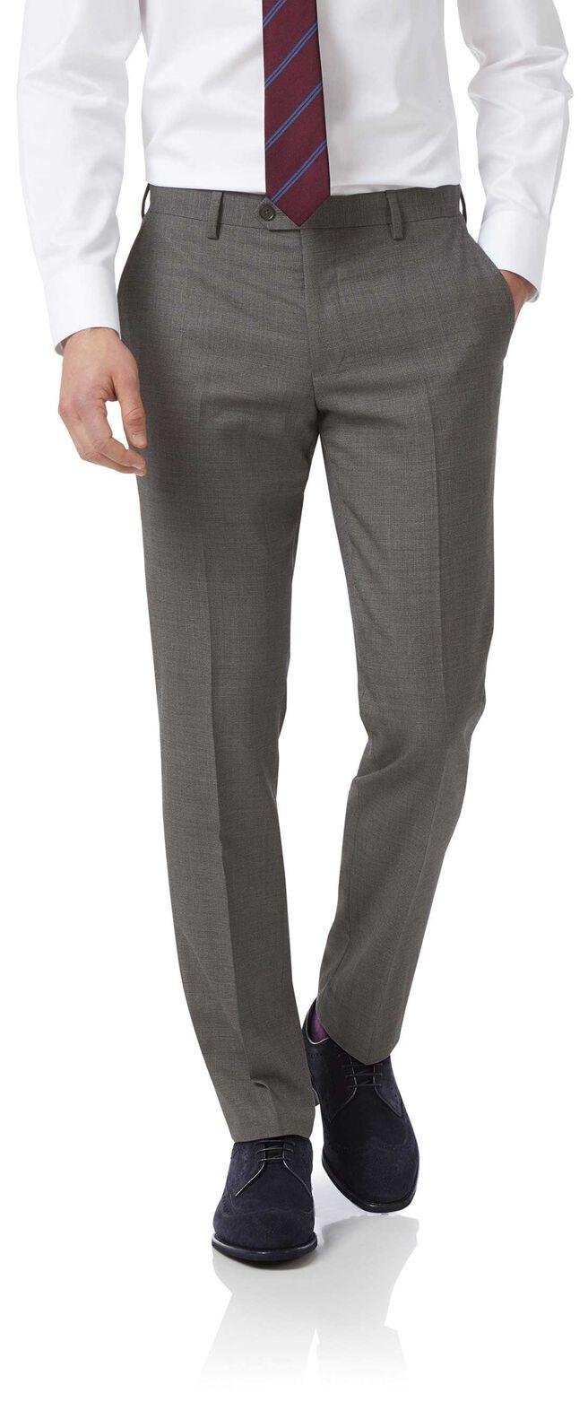 Grey slim jaspe business suit