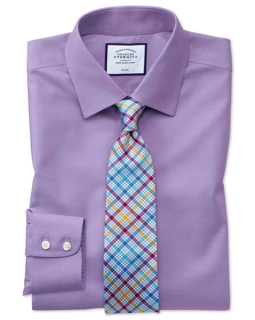 Classsic fit lilac non-iron twill shirt