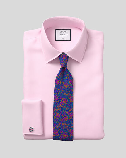 Classic Collar Non-Iron Twill Shirt  - Pink