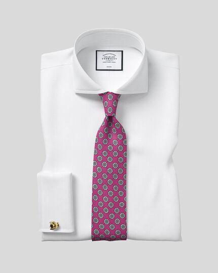 Extreme Cutaway Collar Non-Iron Twill Shirt - White