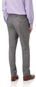 Silver slim fit Italian cross hatch weave suit