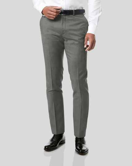 Italian Pindot Suit Trousers - Grey