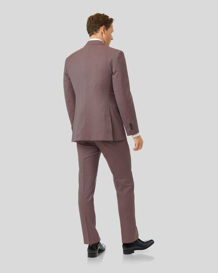 Twill Business Suit - Fig