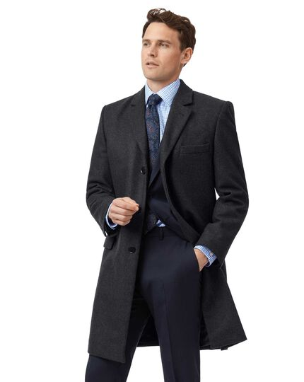 Grey Italian wool and cashmere overcoat
