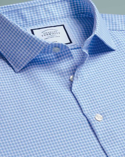 Non-Iron Natural Stretch Shirt - Sky Blue