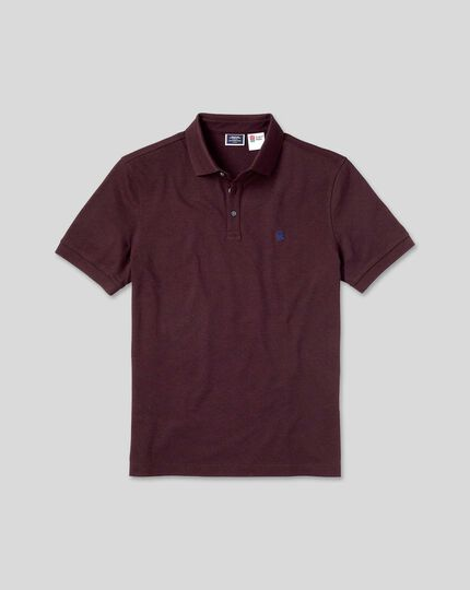 England Rugby Pique Polo - Wine