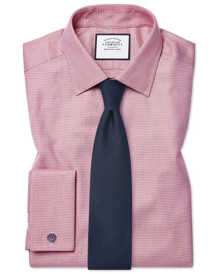 Slim fit Egyptian cotton chevron pink shirt