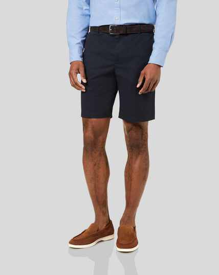 Chino-Shorts - Marineblau