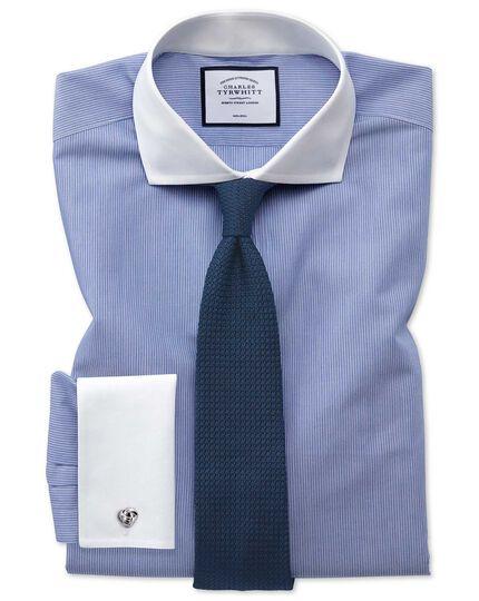 Hemd Slim Fit Bügelfrei mit Winchester-Kragen in Blau