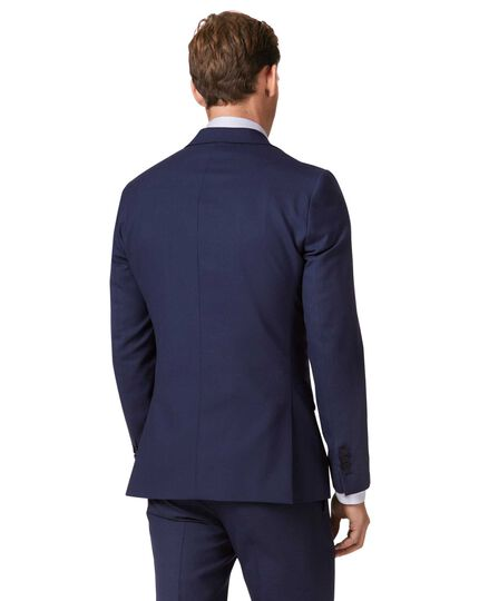Royal blue extra slim fit merino business suit jacket