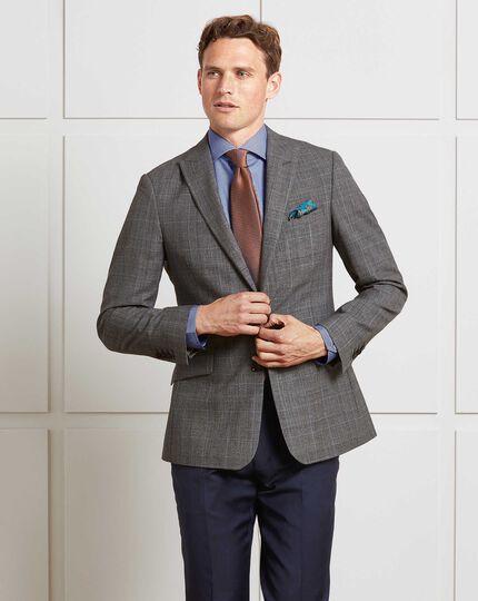 Navy slim fit twill business suit pants