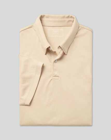 Smart Jersey-Polo - Leichtgrau