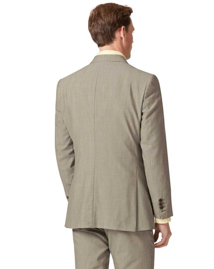 Natural Panama slim fit British suit jacket
